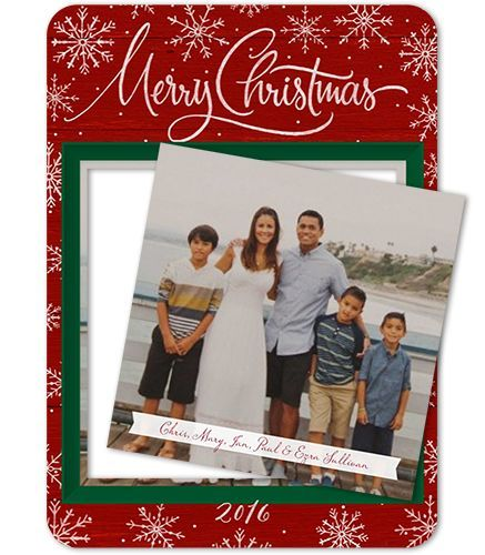 Winter Wonderland Frame 5x7 Pop Out Photo Christmas Card by Petite Lemon