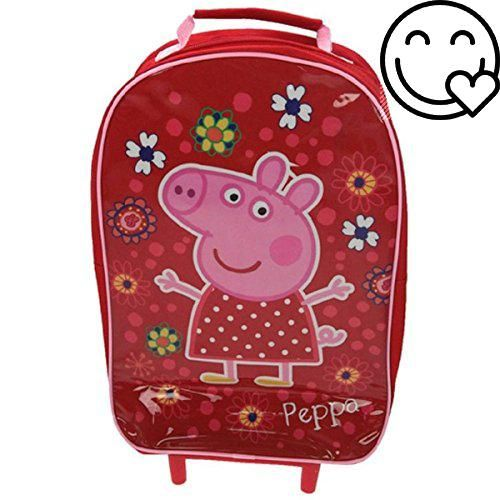 100% official #Peppa Pig #merchandise Ideal for holidays, weekends away and sleepovers Features a great image of Peppa Has one main zip closing compartment and a ...