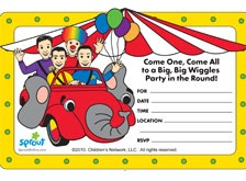 Printable Wiggles birthday invitations from SproutOnline.com