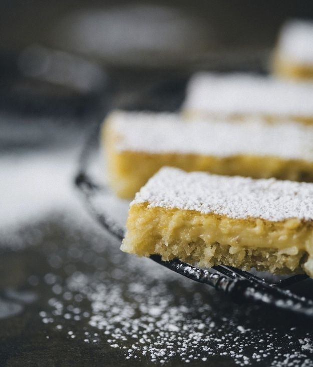 Lemon And Coconut Bars - gluten free - with links to 32 other GF desserts