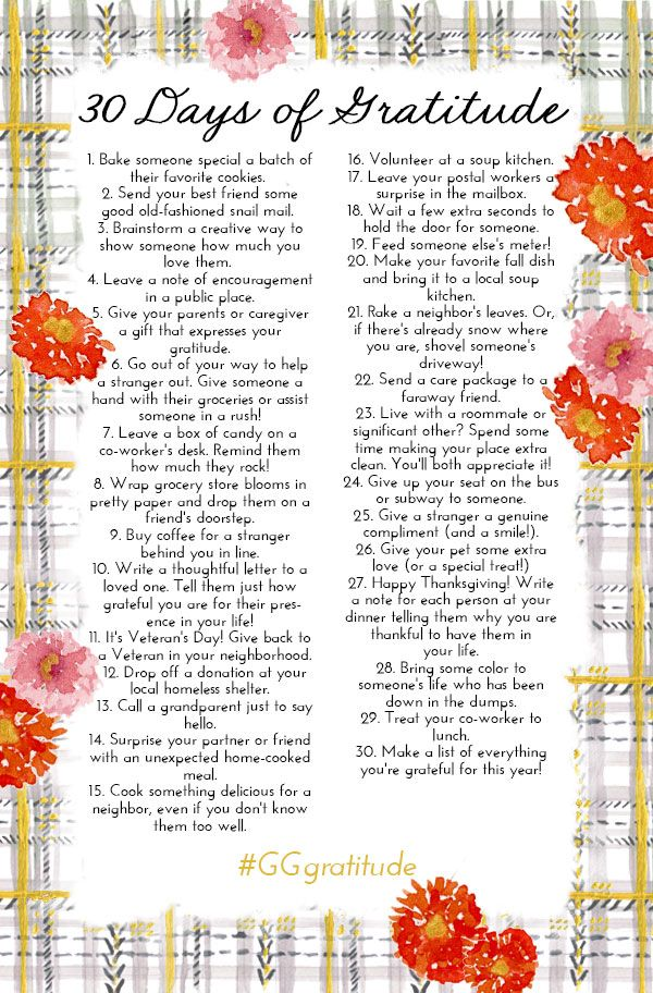 30 Days Of Gratitude- we should all practice gratitude more in our everyday lives!!