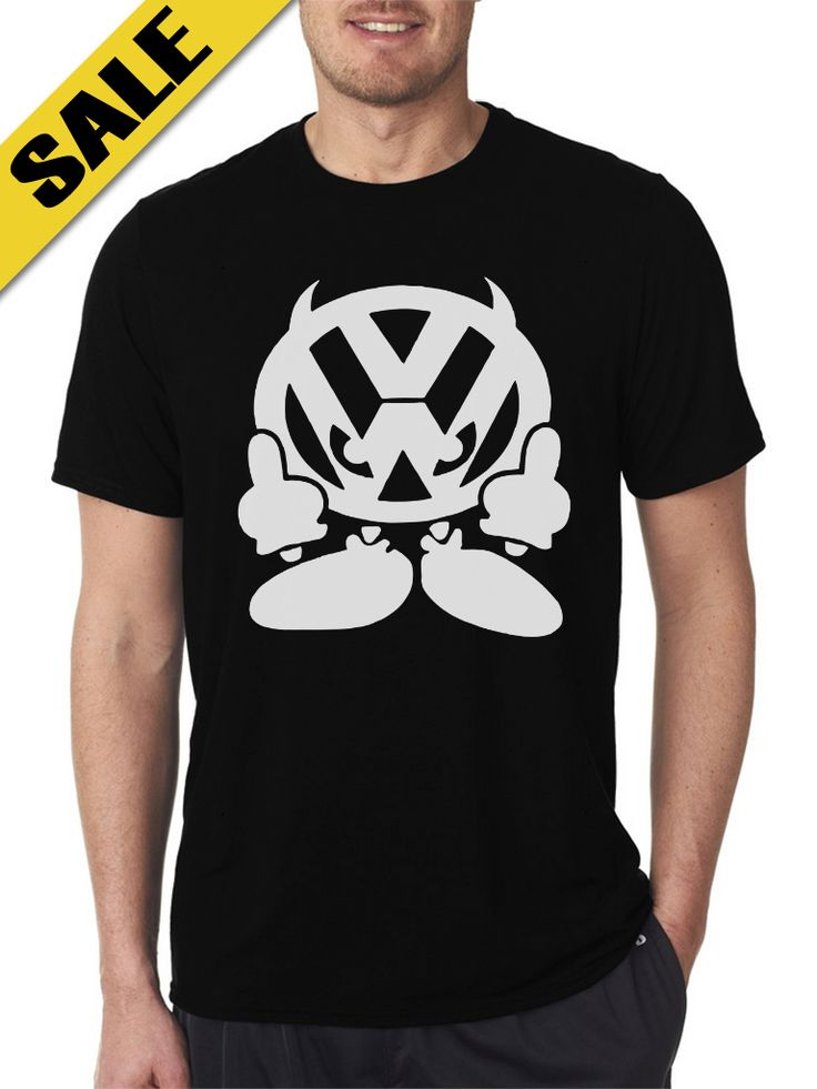 Volk Character Black T-Shirts For Men's