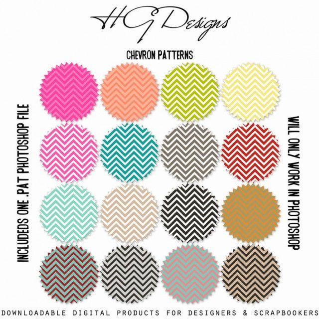 240 chevron printables! These may be cute as photo borders for a collage!