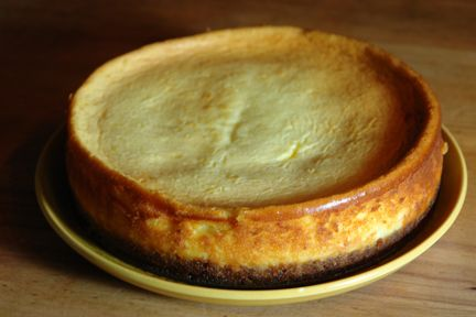 Baked vanilla cheesecake made from a Gordon Ramsay recipe