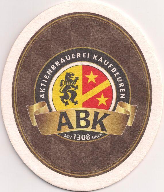 Vorderseite: Bierdeckel-Europa-Mitteleuropa-Deutschland-Bayern-Schwaben-Kaufbeuren-Aktienbrauerei-Hell