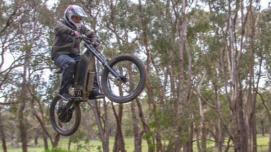Stealth Bomber: 10.5 inch suspension travel at the rear and 8 inches at the front are great for trails and small jumps