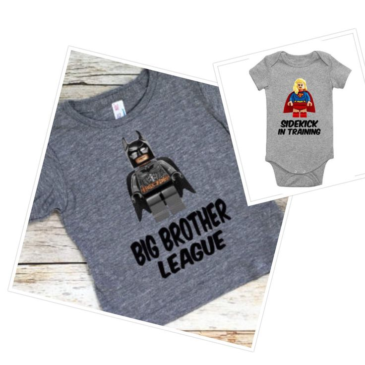 Lego Batman & Supergirl Sibling Set. Lego Batman. Big Brother. Little Sister. Brother and Sister Shirts. Brother. Sister. Lego Supergirl. by LolaBleutique on Etsy https://www.etsy.com/listing/520813151/lego-batman-supergirl-sibling-set-lego