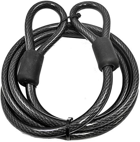 New Lumintrail 12mm 1 2 Inch Heavy Duty Security Cable Vinyl Coated Braided Steel Sealed Looped Ends 4 7 15 30 Online Chictrendyfashion Security Cable Steel Seal Bike Lock