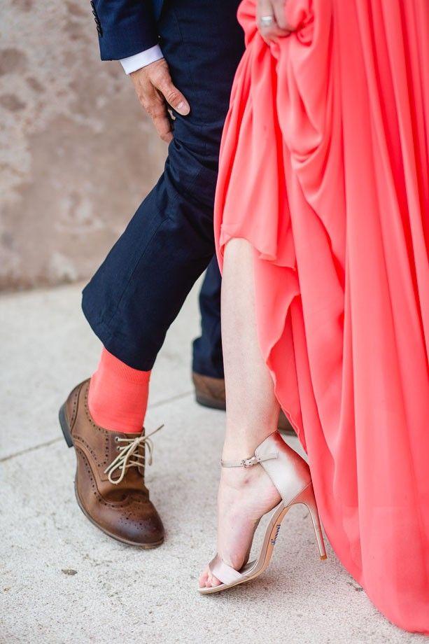farbig abgestimmt - so sind Outfit von Braut & Bräutigam (vor allem bei ungewöhnlichen Farbkombinationen) ein absoluter Hingucker