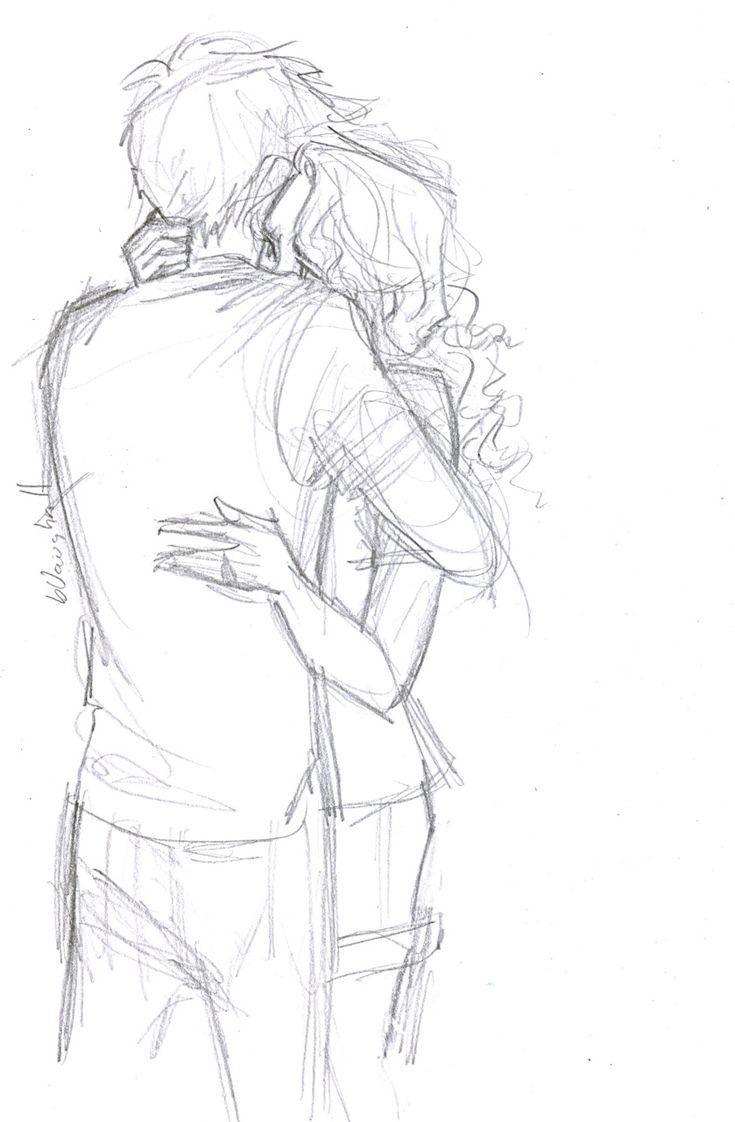 обнимашки рисунок легкий история любви довольно