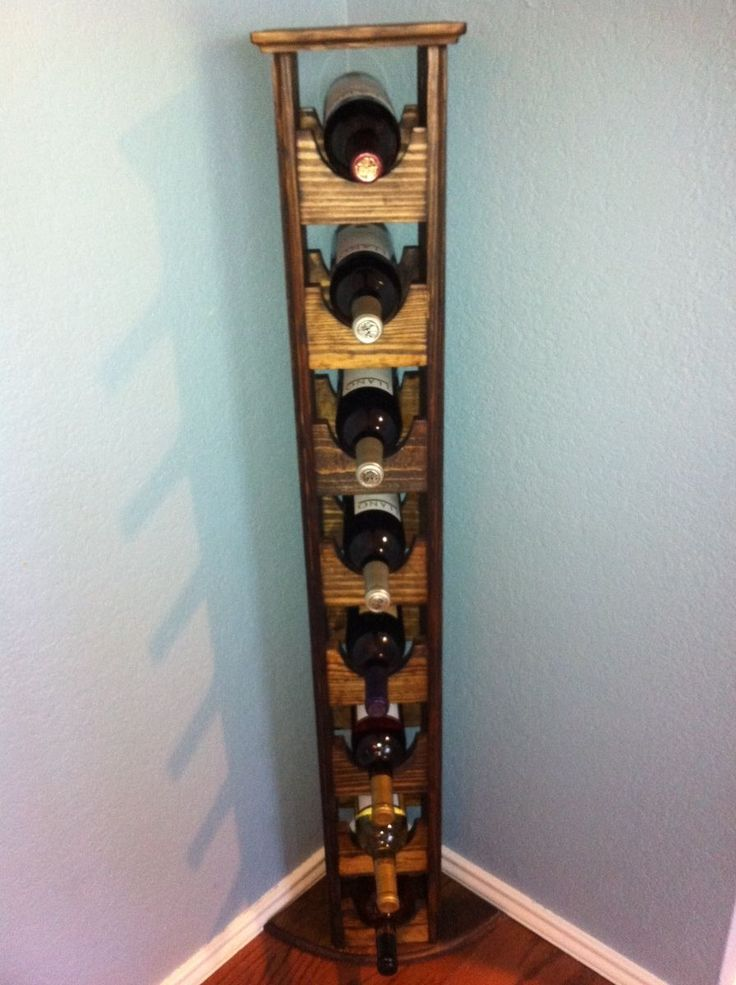 Custom Made Tall Skinny Wine Rack  Ideas without plans