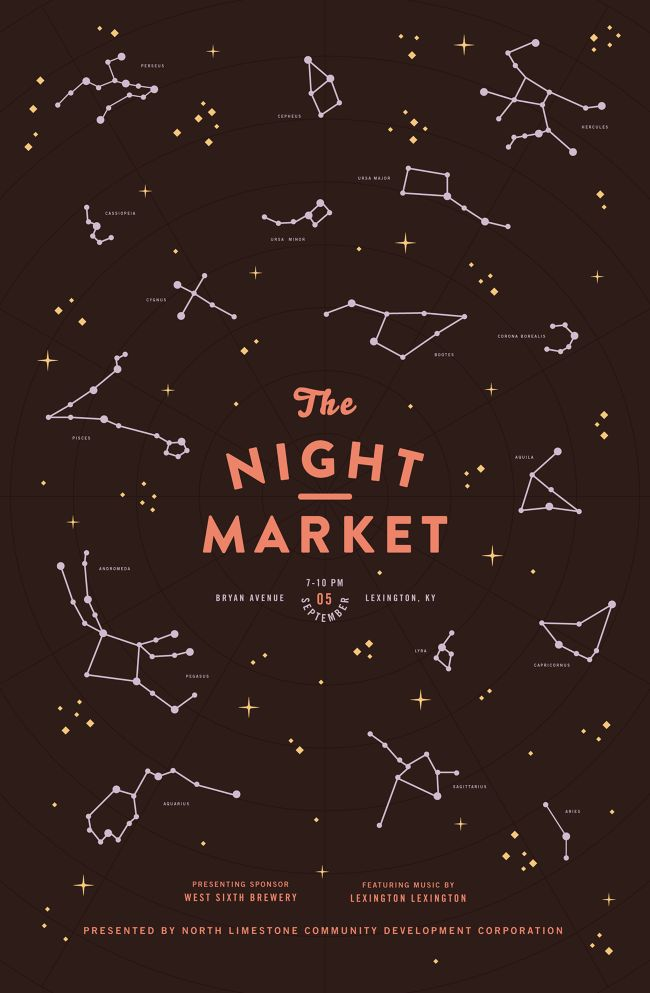 Night Market Poster Series - Mary Galloway / Graphic Design