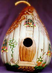 Gourd birdhouse-just beautiful