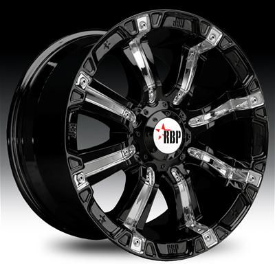 Rolling Big Power 94R Black #Wheels with #Chrome Inserts