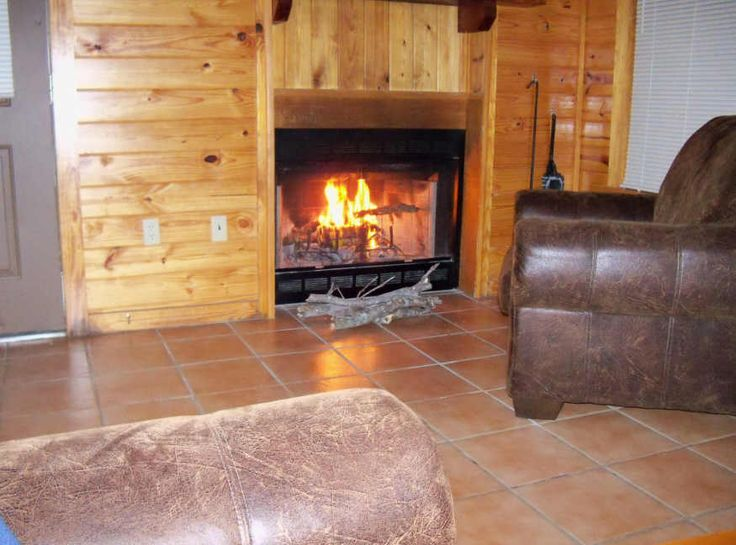 Lake Hugo, Oklahoma, Cabin Rental - Nice warm fire for the evening.  They supplied the wood!  Check out this location for your next vacation.