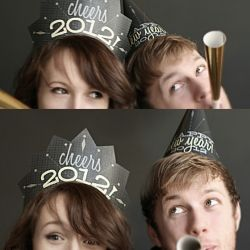 Free printable New Years party hats