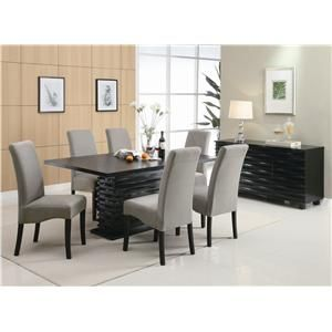 Stanton 9 Piece Table and Chair Set by Coaster - Coaster Dealer Locator - Pub Table and Stool Set