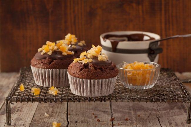 Шоколадно-апельсиновые кексы