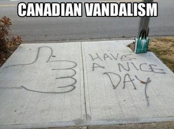 This brazen instance of tagging: | The 29 Most Canadian Things To Ever Canada In Canada