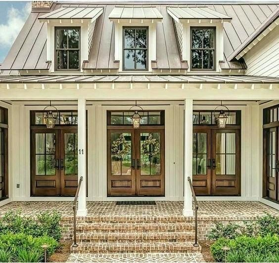 Modern House Red Roof: Image Result For Metal Roof With Red Brick House