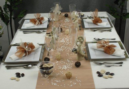 ...  idees deco de fetes  Pinterest  Décoration, Tables et Ivoire