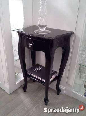Konsola / Szafka Ludwik z szufladką, półką, meble, wnętrze, stylowe, glamour, wystrój wnętrz, dom,    Wymiary: 50x34 h75 cm,