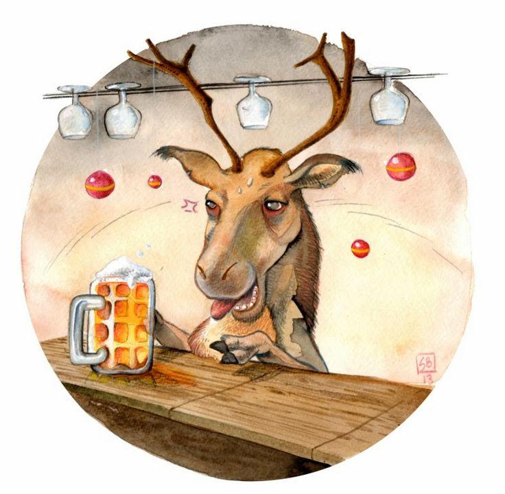 reindeer drunk