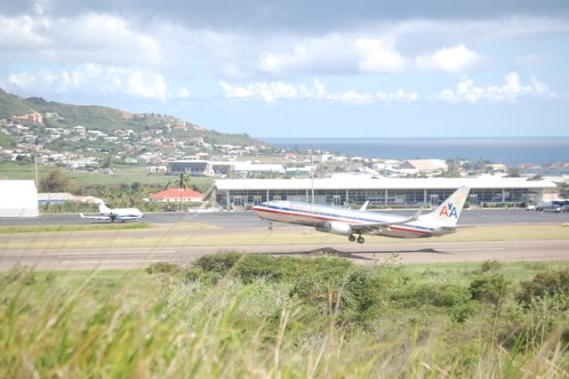 American Airlines and American Eagle flights into St. Kitts  - Search Airport Code SKB - with flights out of JFK, MIA, and SJU you will be able to find out Island Paradise
