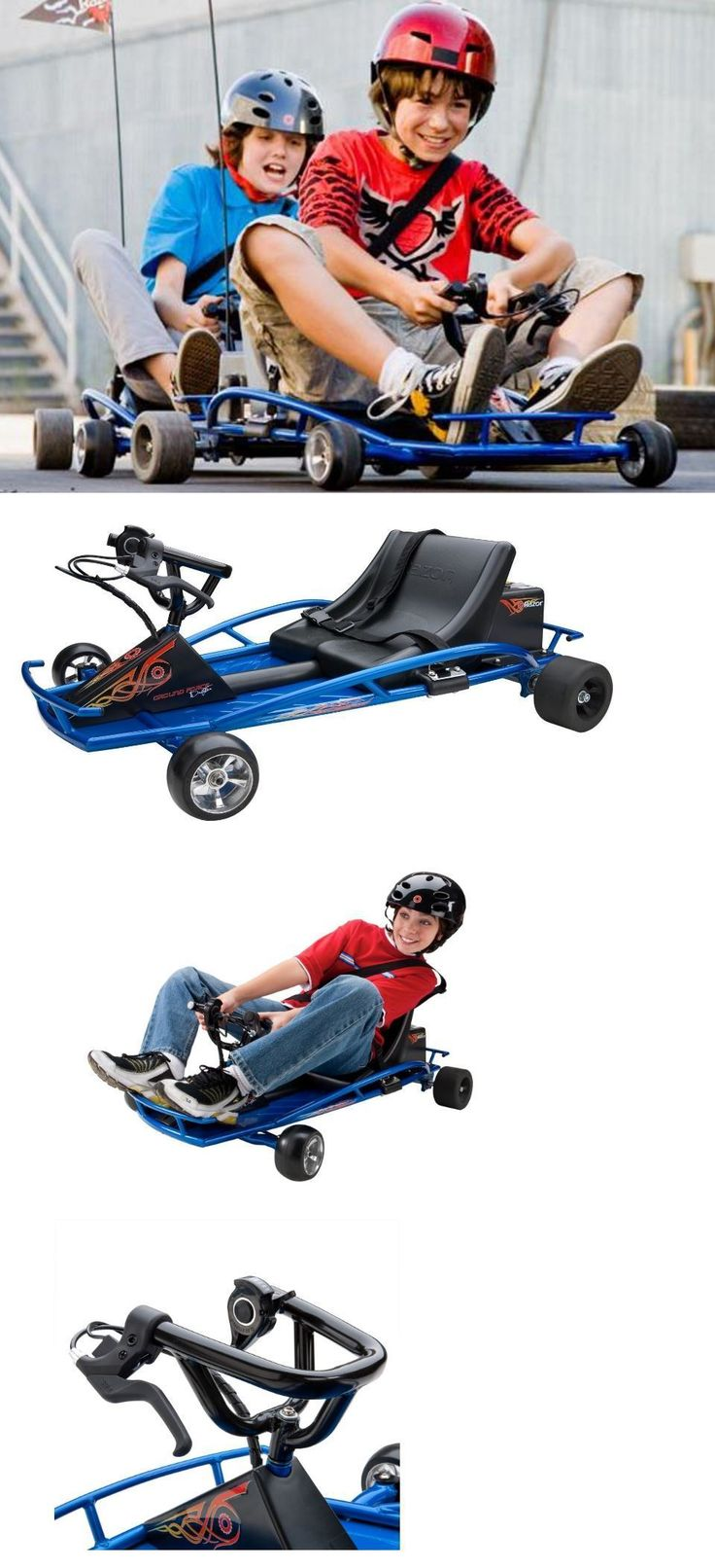 Complete Go-Karts and Frames 64656: Go Karts For Kids 10 Year Olds Teens Frame Razor Electric Racing Low Profile -> BUY IT NOW ONLY: $337.79 on eBay!