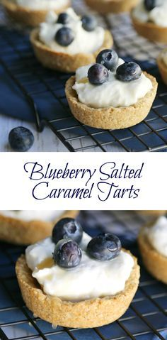 One thing I really love about this delicious Blueberry Salted Caramel Tarts recipe, is the unique tart shell which its made from oats!