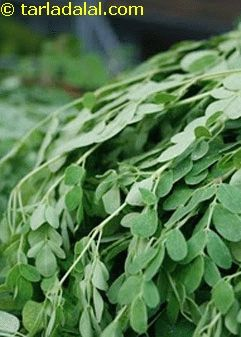Drumstick Leaves Glossary (used in South Indian cuisine)| Recipes with Drumstick Leaves |Tarladalal.com ... Also gives health benefits.