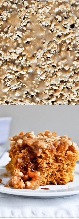 Pumpkin Coffee Cake. Thanksgiving Breakfast? Heck yes. I howsweeteats.com
