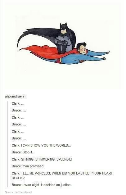 hahaha! superhero version of a whole new world