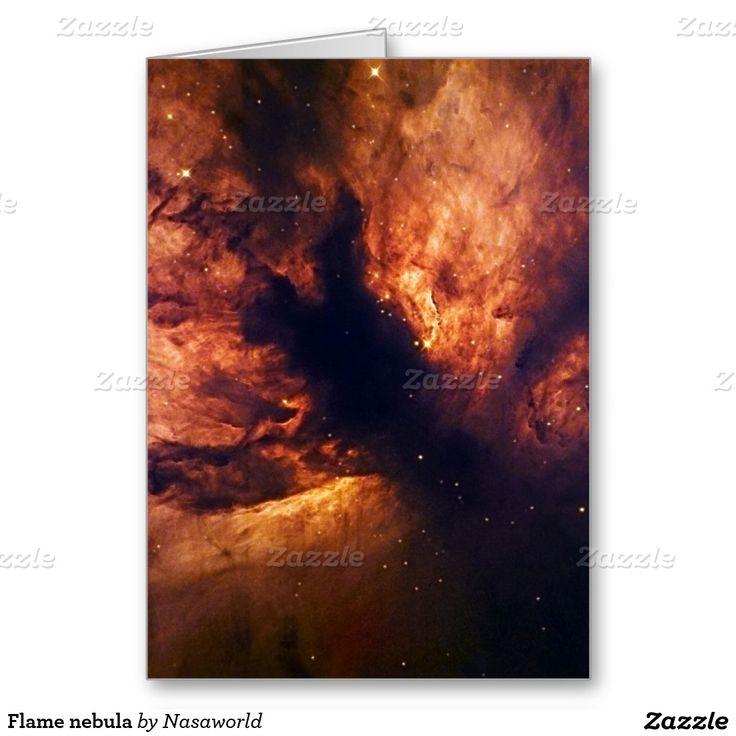 Flame nebula greeting card