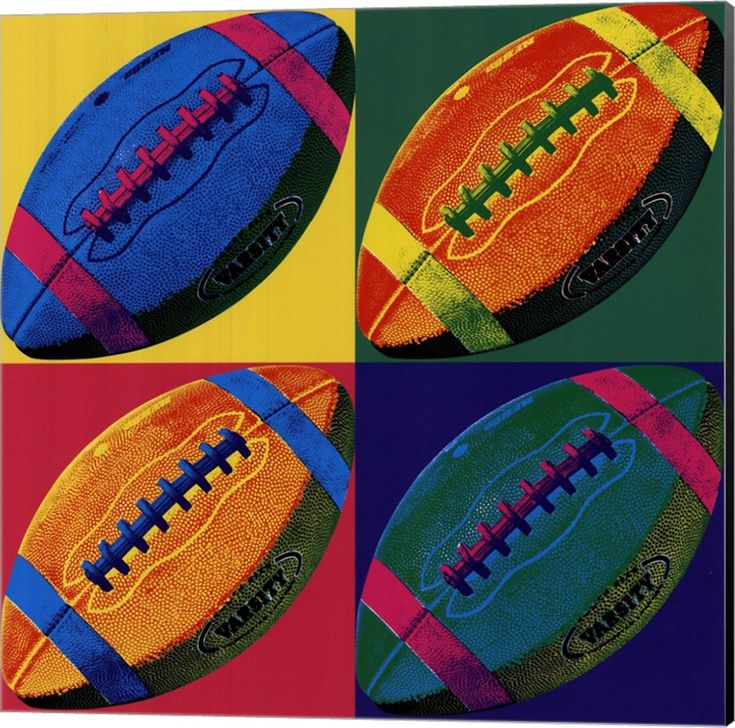 Ball Four Football Canvas Art