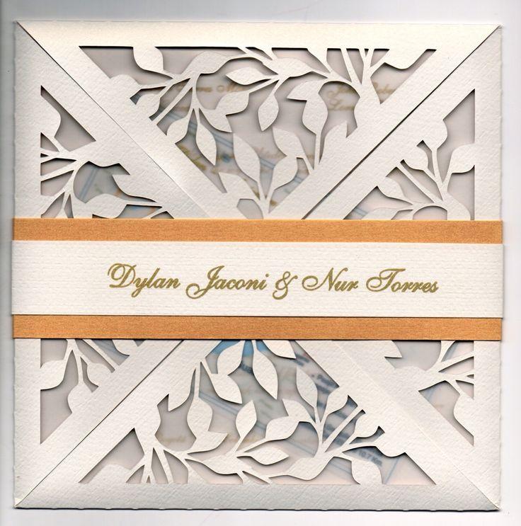 Very elegant, laser cut wedding invitations