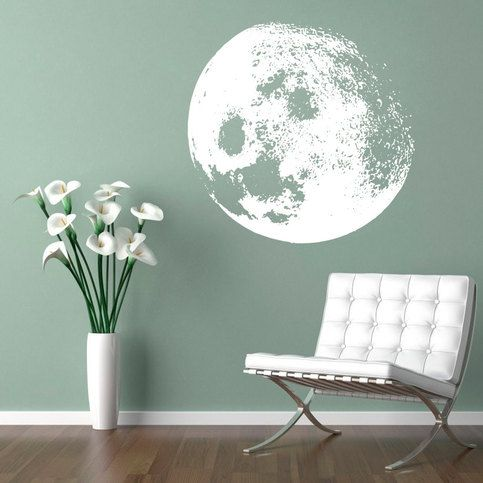 """Apply this beautiful wall decal in any flat surface (walls, windows, doors, furniture). Deco vinyl for your home.   Is all about Dreaming - """"Moon Decal"""".  Inspirational home decor Moon Decal Sticker Wall Vinyl Wall Art.  This design will add elegance to any room and comes in the color of you..."""