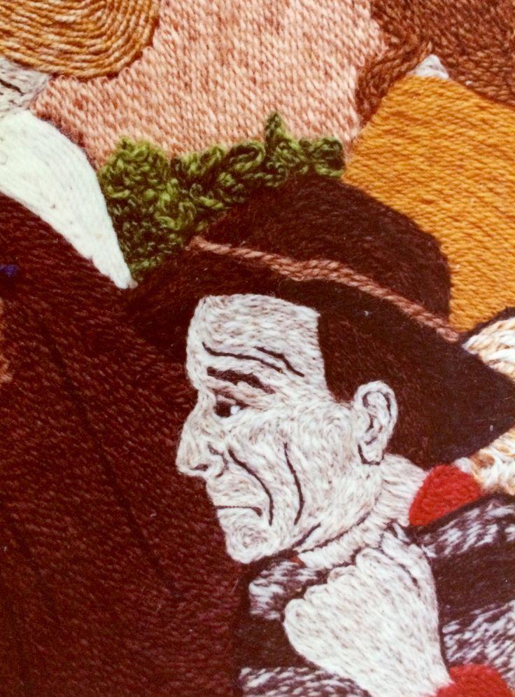 Sombreros (detalle) Marta Alarcón  Collage en Lana