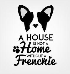 French Bulldog Typographic Background vector