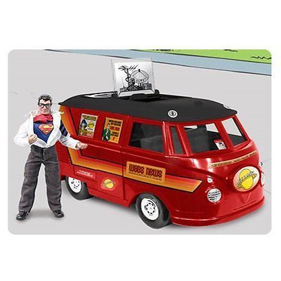 Other Action Figures 348: Superman Daily Planet Van Vehicle With Clark Kent Figure -> BUY IT NOW ONLY: $99.99 on eBay!
