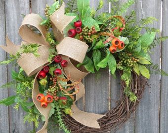 Spring / Summer / Fall Wreath  Wreath for All Year Round