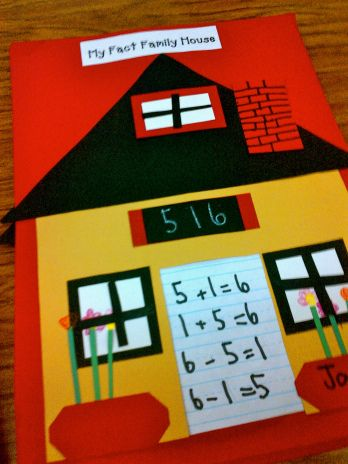 Fact Family House, math art project
