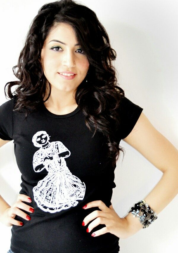Our vintage Dancing Girl T-shirt. Capped sleeves. Printed on American Apparel. Fitted in the right places. Check it out at brownmanclothing.com.