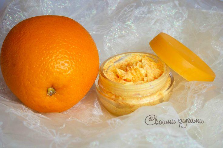 апельсиновый скраб с гранулами жожоба из кремообразной мыльной основы