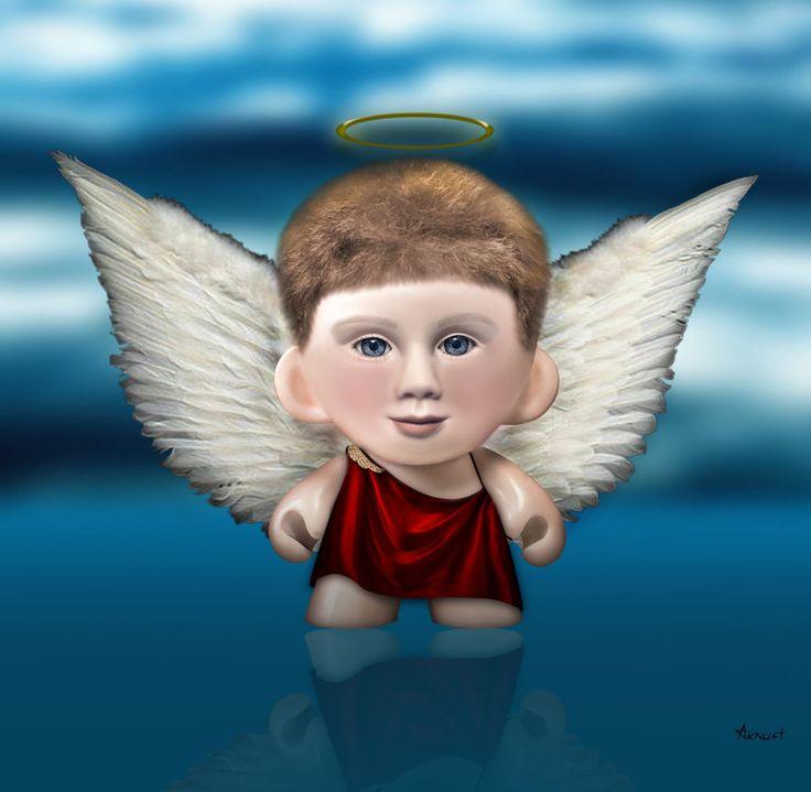 Anjo de brinquedo - Feito com Photoshop