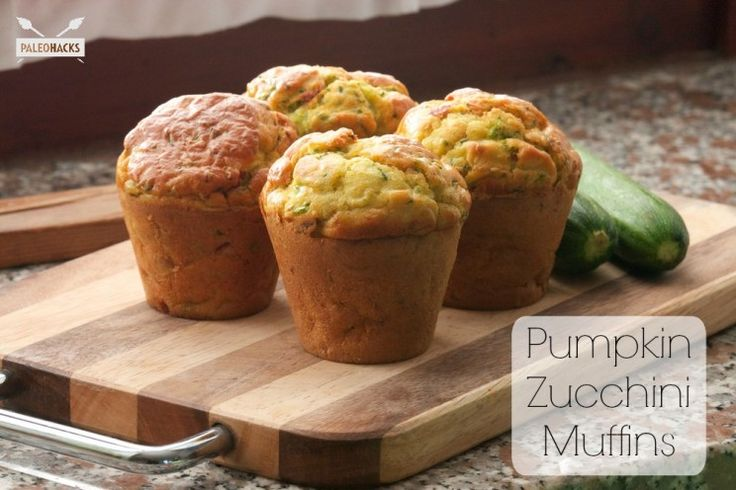 Pumpkin Zucchini Muffins from Paleohacks. A healthy and delicious recipe for pumpkin zucchini muffins, perfect for working in extra greens.