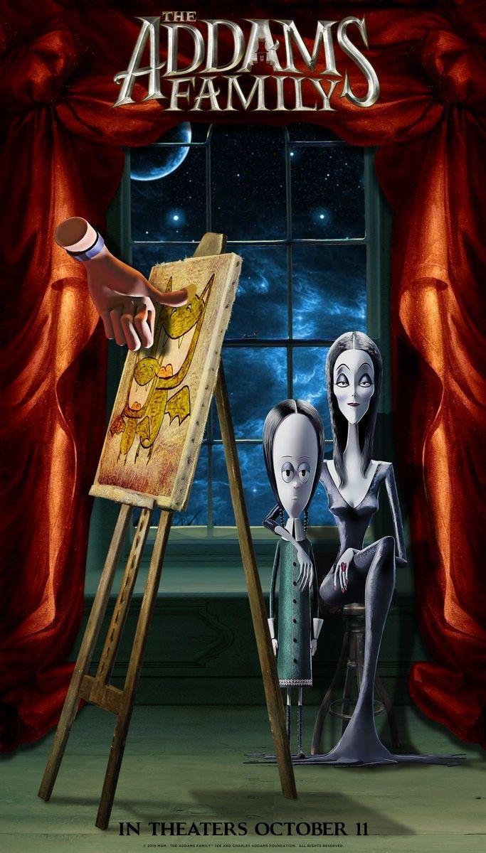 The Addams Family Poster La Familia Addams Carl Y Ellie Sirenas De Fantasia
