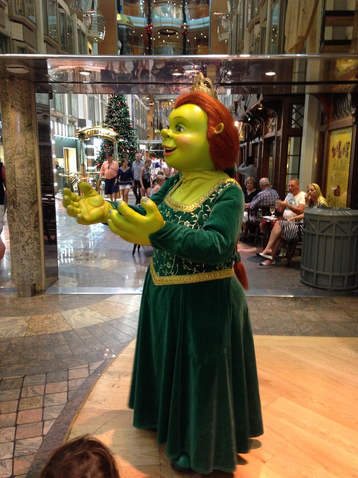 Fiona from Shrek frequented the boat. Great for the kids. Lots of characters and parades