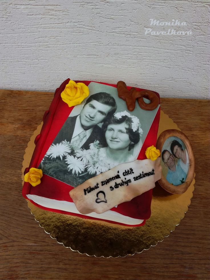 Wedding anniversary CAKE. DORTke 40. výročí svatby.