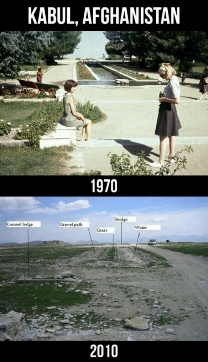 Kabul, Afghanistan | Then & Now . . . the devastation of war